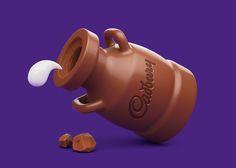 Cadbury Dairy Milk Icons by MDI, via Behance
