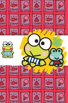 Kerokerokeroppi (Sanrio) Keroppi Wallpaper, Snoopy Wallpaper, Iphone Wallpaper, Hello Kitty Backgrounds, Favorite Cartoon Character, Sanrio Characters, Little Twin Stars, Colorful Wallpaper, Kawaii