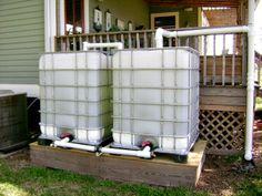 Rain water catch system Rain Water Barrel, Rain Barrel System, Rain Barrels, Rain Collection System, Water Catchment, Rain Catchment System, Water Tank, Water Storage, Construction