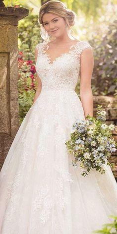 [object HTMLDivElement] Wedding Dress Trends, Princess Wedding Dresses, Modest Wedding Dresses, Elegant Wedding Dress, Wedding Dress Styles, Bridal Dresses, Romantic Lace, Romantic Honeymoon, Romantic Evening