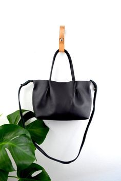 Black Tote Bag // Made in USA