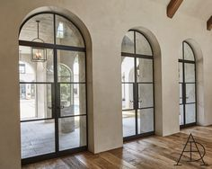I've admired Ruth Gay's Chateau Domingue atelier, warehouse, and gallery for some time. Hidden in a quiet corner of Houston, her company ne. Arched Interior Doors, Arched Doors, Interior Windows, Arched Windows, Steel Frame Doors, Steel Doors And Windows, Crittal Doors, Door Design, House Design