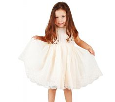 Bow Dream Flower Girl's Lace Dress 2 Colors