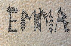 I've designed some fonts for my sister, inspired by henna motives.