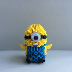 Etsy の Awesome 3D Origami Minions by OlygamiCrafts