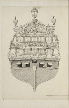 Jean Bérain (1640-1711) – Vaisseau: Le Fleuron – Paris, Musée du Louvre