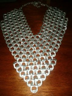 Necklace made out of pop tabs