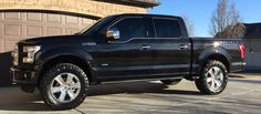 "2015 f150 platinum black - leveling kit - 35"" tires"
