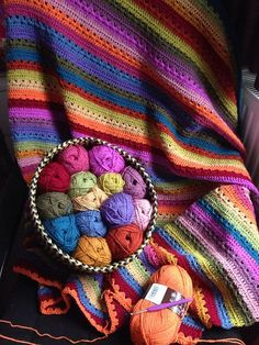 Afghanen-Plaid Cosy Stripe Blanket pattern by Lucy of Dachboden 24 Haken Picot Crochet, Crochet Afgans, Crochet Quilt, Crochet Home, Knit Or Crochet, Crochet Crafts, Crochet Stitches, Crochet Baby, Crochet Blankets