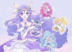 Pretty Cure, Glitter Force, Hero Girl, Magical Girl, Shoujo, Girl Power, Cute Art, Manga Anime, The Cure