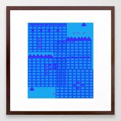 Flying Over the Blue City Framed Art Print