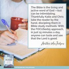 Intimidated by Bible Study?  Try this: KatieOrr.me/Philippians  (Ill be hosting an online group to go through this study! Starts February 12th! Ill have details up as soon as I can amidst all this packing nonsense. )