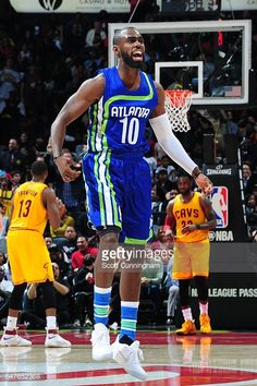 c63fe03ee758fd Tim Hardaway Jr.  10 of the Atlanta Hawks reacts during the game.
