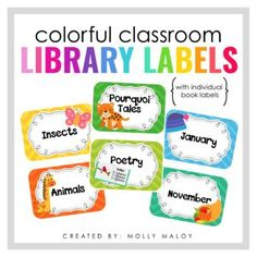 This file contains over 120 classroom library labels for you K-6th grade library! Download the preview to see a list of all the book basket labels that are included.