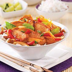 Sauté de poulet aigre-doux à la thaï - Recettes - Cuisine et nutrition - Pratico Pratique