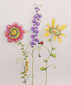 Take a look at this Wild & Whimsical Flower Stake Set by The Round Top Collection on #zulily today!