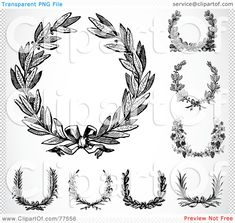 Royalty-Free-RF-Clipart-Illustration-Of-A-Digital-Collage-Of-Black-And-White-Laurel-Wreaths-102477556.jpg 1,080×1,024 pixels