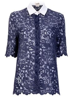 Hey HERMES VINTAGE  LACE BLOUSE nice pin!