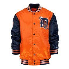 Men s Detroit Tigers  05 All-Star Starter Jacket - Orange Navy 864306640