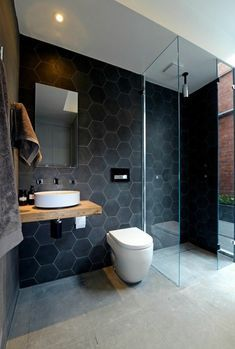 Modern Bathrooms With Wall-Mounted Toilets Browse modern bathroom ideas images to bathroom remodel, bathroom tile ideas, bathroom vanity, bathroom inspiration for your bathrooms ideas and bathroom design Read Bathroom Inspiration, Bathroom Interior, Laundry In Bathroom, Bathroom Decor, Bathroom Shower, Bathroom Remodel Designs, Small Bathroom Remodel, Tile Bathroom, Shower Room