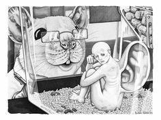 rata ilustraciones sobre el lado mas oscuro del ser humano
