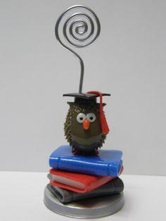 Portafoto gufetto laureato in pasta di mais
