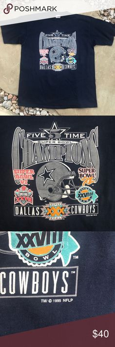 XXL Dallas Cowboys 5 Time Super Bowl Shirt XXL NFL Dallas Cowboys Super  Bowl Champion Shirt. America s Football Team. Tulex. Circa 1995. Men s XXL.  Vintage ... 5368a7d57