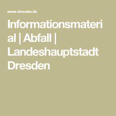Informationsmaterial | Abfall | Landeshauptstadt Dresden