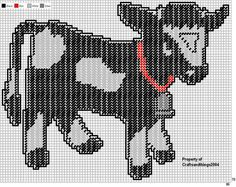 plastic canvas cow pattern