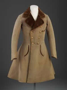 1830s frock coat via The Victoria & Albert Museum