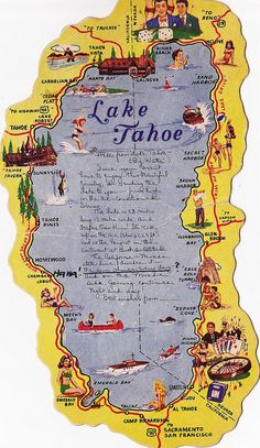 Vintage Postcard Lake Tahoe by hmdavid, via Flickr