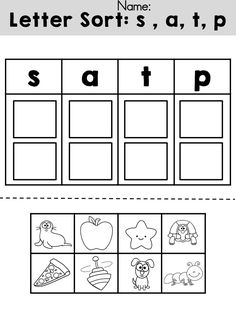 Literacy activities for kindergarten. Alphabet Activities, Literacy Activities, Apple Activities, Literacy Centers, Exit Games, Letter Sorting, Letter Sounds, Initial Sounds, Kindergarten Literacy