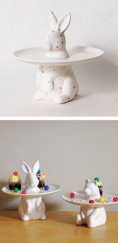 Bunny cake plate
