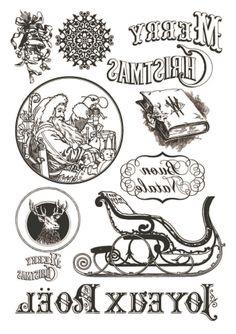 Transzfer papír A4 - Merry Christmas sled - fekete - Transzferpapírok - Kreativ Hobby Dekor