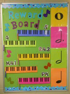 Elementary Music Classroom Music Reward Board For Elementary Music Classes