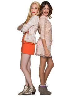 Martina Stoessel and Mercedes Lambre in Violetta (2012)