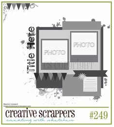Heather Leopard: Scrapbooking Sketches by Heather Leopard to get your creative mojo going