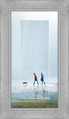 Rain Storm Detail Printed Mount - MP58 Code: AK07396  Artist: Michael Sanders  Size: 42 x 72cm  Type: Framed Blue Rooms, Landscape, Frame, Painting, Products, Blue, Blue Bedrooms, Picture Frame, Scenery