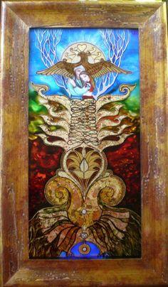 Dávid Júlia festőművész honlapja | Galéria | Üvegkompozíciók Julia, Sacred Geometry, Hungary, Folk Art, Stained Glass, Witch, David, History, My Love