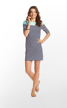 Just as versatile as Cassie, but with a few tweaks! Kaleb is made of the same breathable, beltable, packable slubby cotton jersey, but features a boatneck update, cinched sleeves, and a slightly more tailored fit. PLUS, in addition to solid and prints, Kaleb comes in nautically-inspired stripes, too! One of each NEEDS to be in your closet. Trust us.