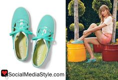 Buy Taylor Swift's cutout sneakers here: http://rstyle.me/n/hhmxe6fbn or here: http://rstyle.me/~1OSyc