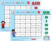 vocalic /r/ bingo - Re-pinned by #PediaStaff.  Visit http://ht.ly/63sNt for all our pediatric therapy pins