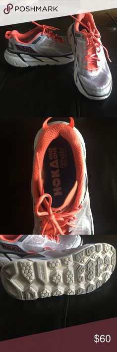 Hoka one one running shoes size 6.5 Speciality running shoes for extra support . Women's size 6.5 . No stains or heavy wear. Hoka one one  Shoes Athletic Shoes