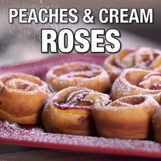 Peaches and Cream Roses -- Peaches and Cream Rose Tarts  From Food Network Kitchens and @Target
