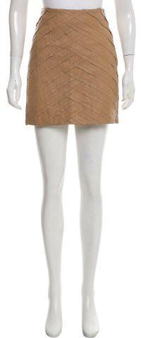 Catherine Malandrino Leather Mini Skirt w/ Tags
