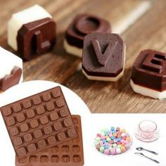 Hot Baking DIY Tool English Letter Shape Silicone Chocolate Mold in Chocolate | Sammydress.com Mobile
