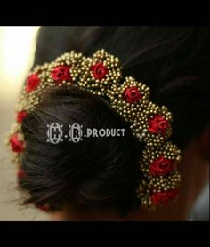 wedding hair accessories with netting Bridal Hairstyle Indian Wedding, Bridal Hair Buns, Bridal Hairdo, Indian Wedding Hairstyles, Bridal Hair Flowers, Bride Hairstyles, Saree Hairstyles, Bun Hairstyle, Flower Hair Accessories