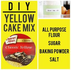 15 Boxed Food Mixes You Never Have To Buy Again Your friends won't be able to judge your cooking when you tell them you made the mix from scratch. Take that, judgey friends! Moist Yellow Cakes, Yellow Cake Mixes, Homemade Spices, Homemade Seasonings, Food Storage, I Am Baker, Cake Mix Recipes, Dessert Recipes, Cupcakes