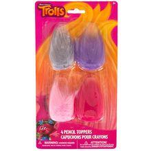 Trolls Pencil Topper Party Favors, 4ct