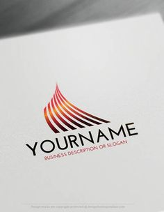 Create a Logo Free – online Lines Logo Template